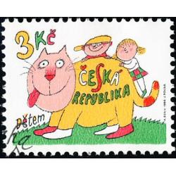 Dětem - razítkovaná známka...