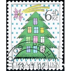 Vánoce - razítkovaná známka...